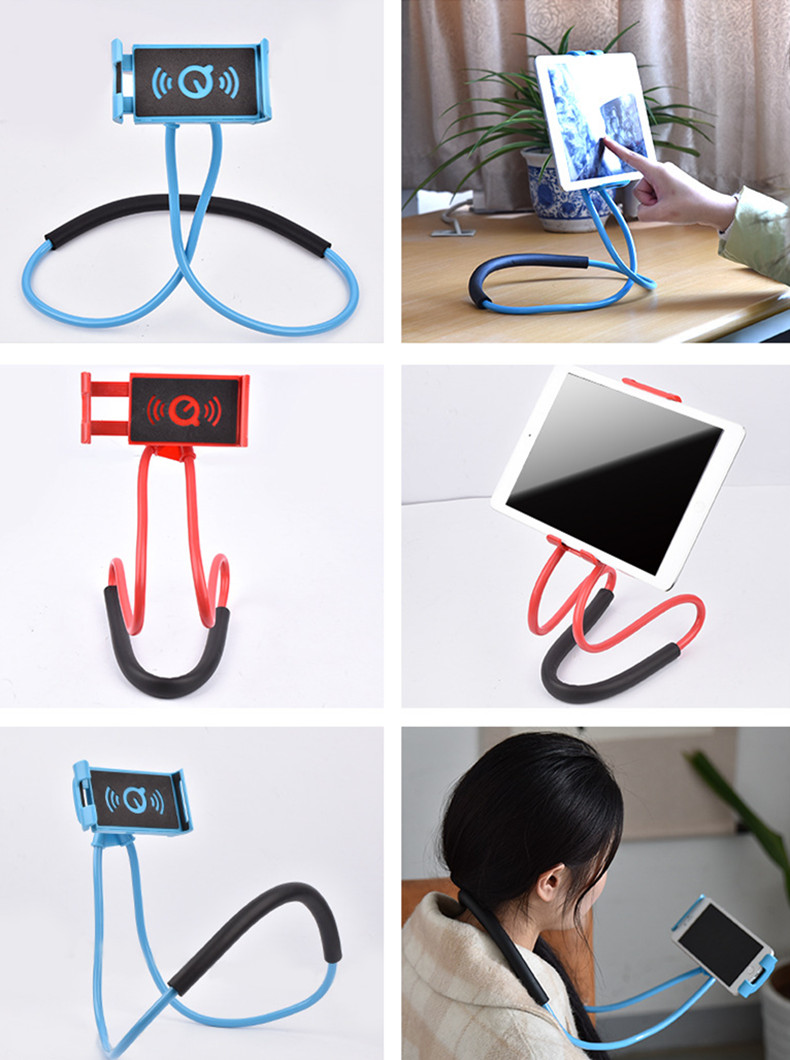 Bakeey Hanging Neck 360 Degree Rotation Lazy Holder Waist Desktop Stand for Xiaomi Mobile Phone iPad