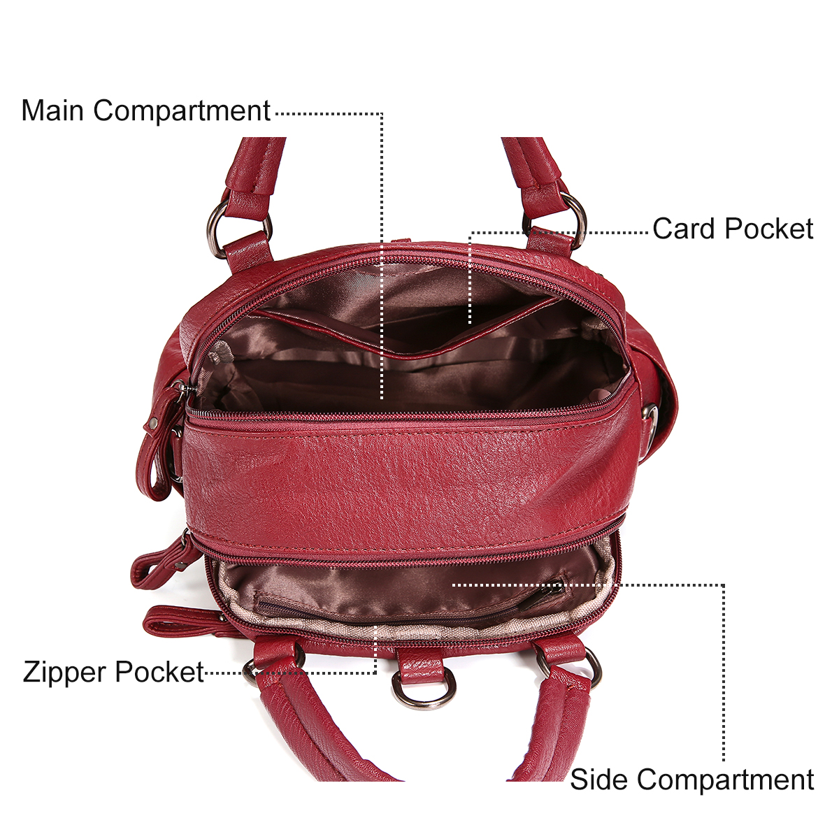Fashion Plaid Handbags Multipurpose Backpack Shoulder bags