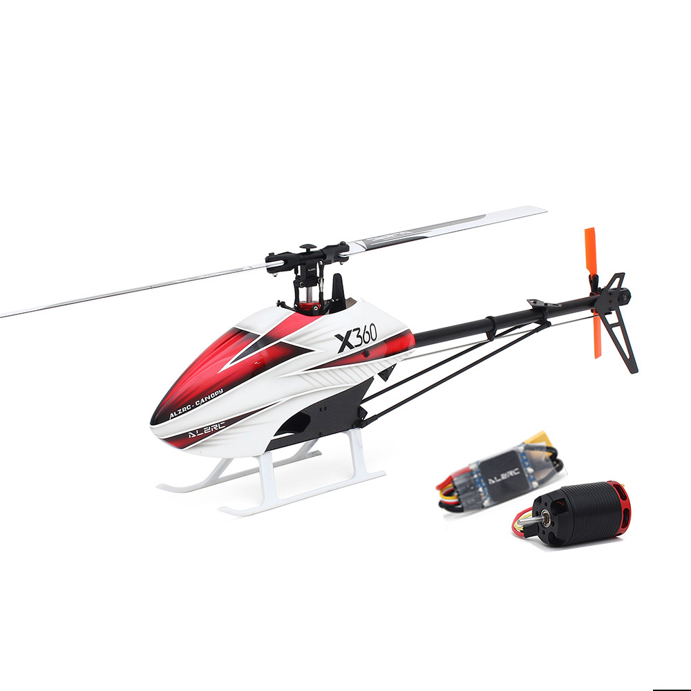 ALZRC X360 FBL 6CH 3D Flying RC Helicopter Kit With 2525 Motor V4 50A Brushless ESC Standard Combo