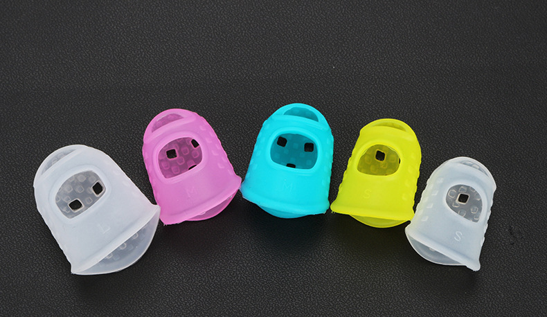 5pcs Insulation Finger Sleeve Silicone Case Cover Cot for 3D Pen Random