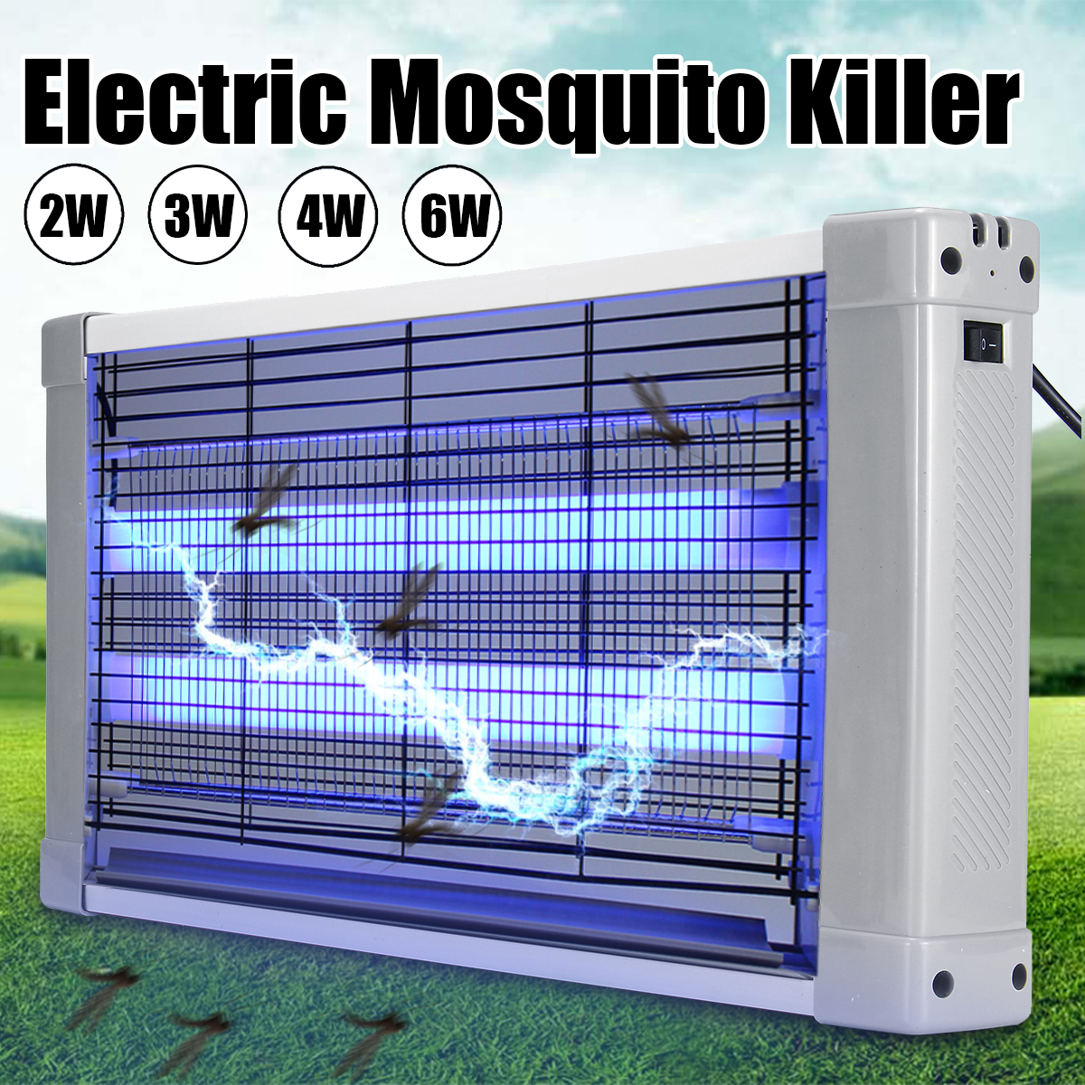 2/3/4/6W LED Mosquito Killer Lamp Electric Fly Zapper Trap Bug Zapper Killer Catcher Insects Bug Pests Electronic Pests Control UV-A Aluminium