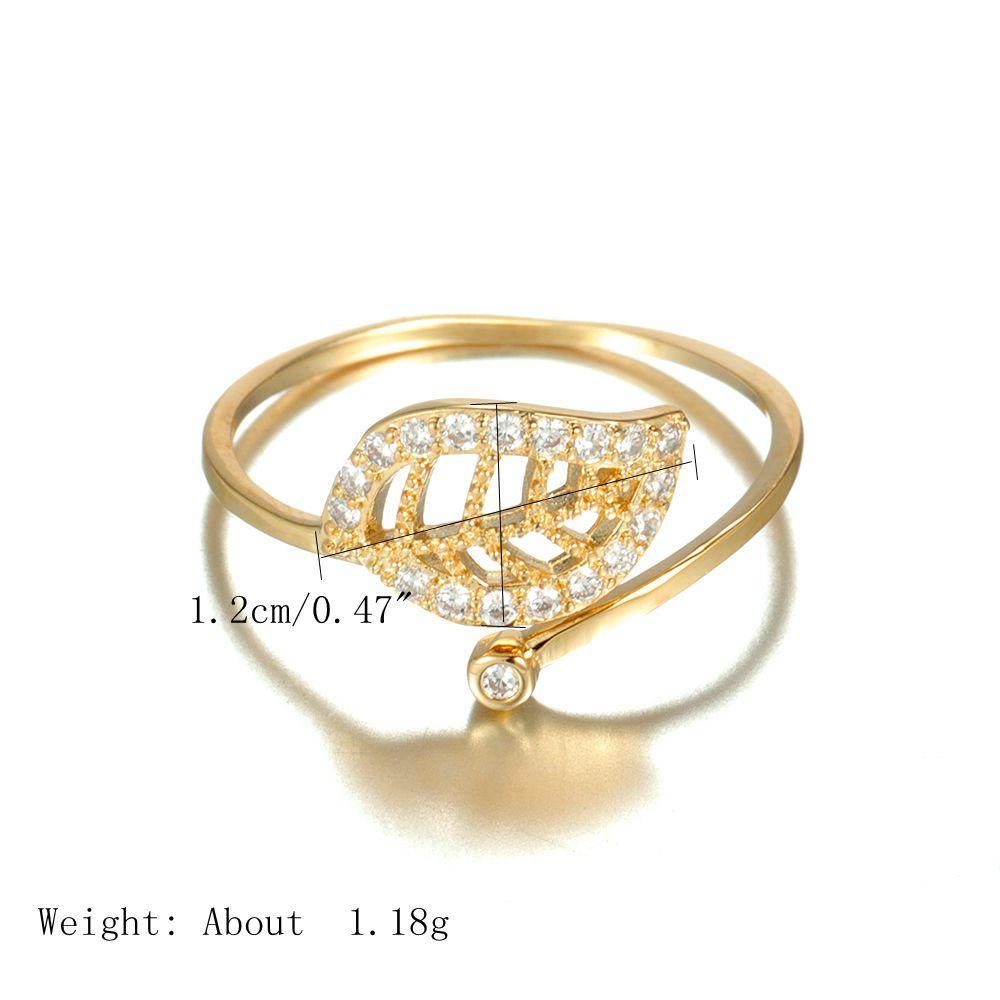 JASSY Plant Zircon 18K Gold Rings