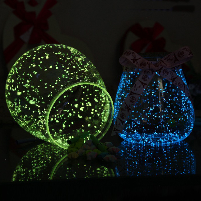 DIY Luminous Glow Gravel Noctilucent Sand Fish Tank Aquarium Fluorescent Particles Party Decorations