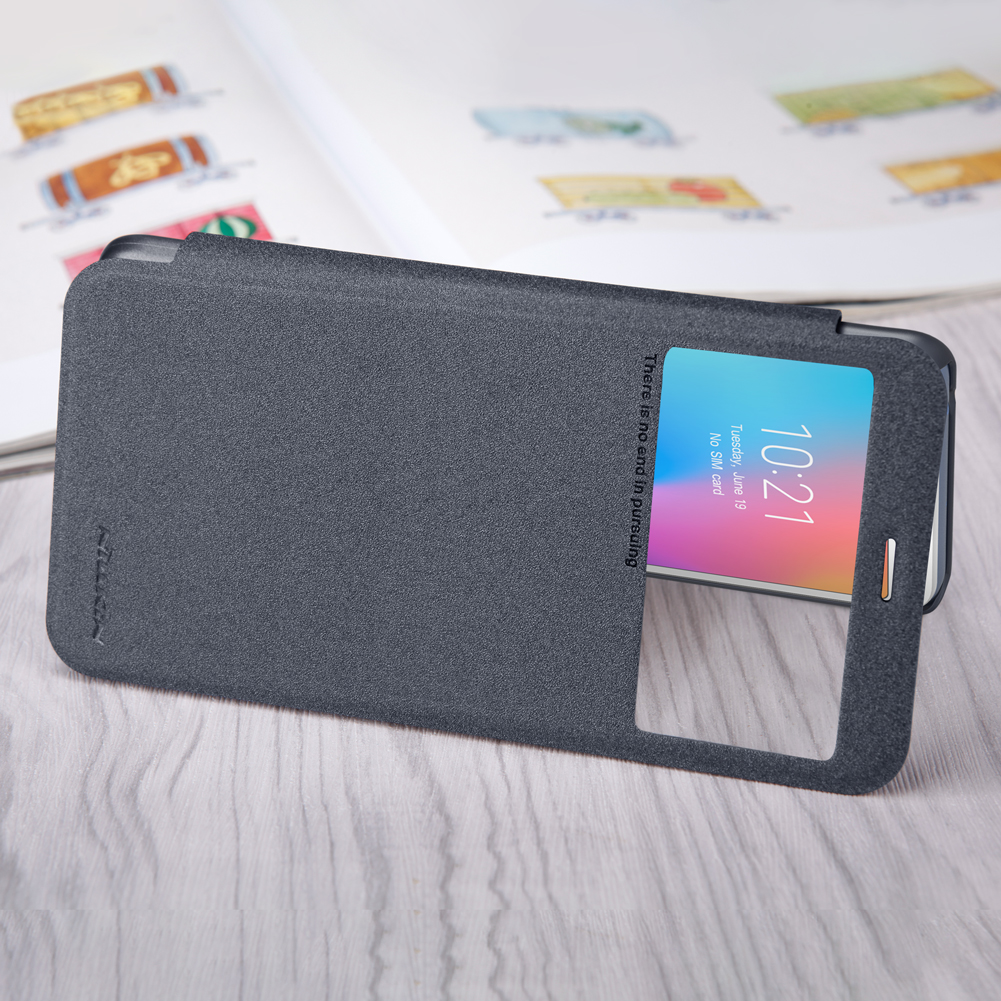NILLKIN Flip Magnetic Smart Sleep With View Window PU Leather Protective Case For Xiaomi Redmi 6A