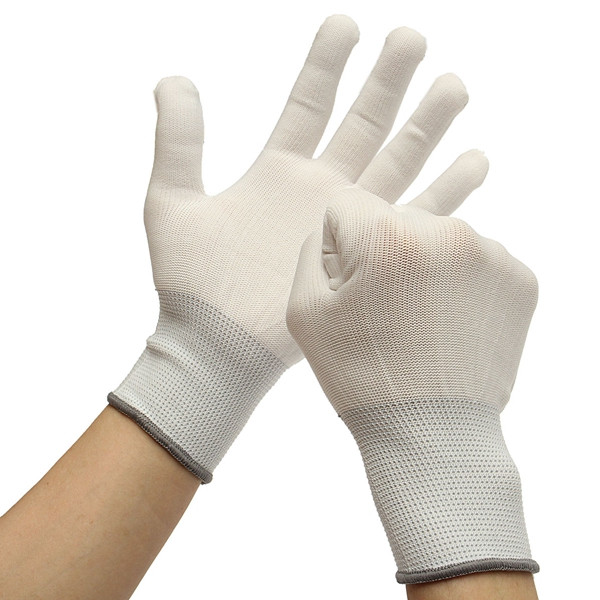 6Pairs Cotton Wrapping Gloves Dedicate Tool For Car Vinyl Sticker Window Film