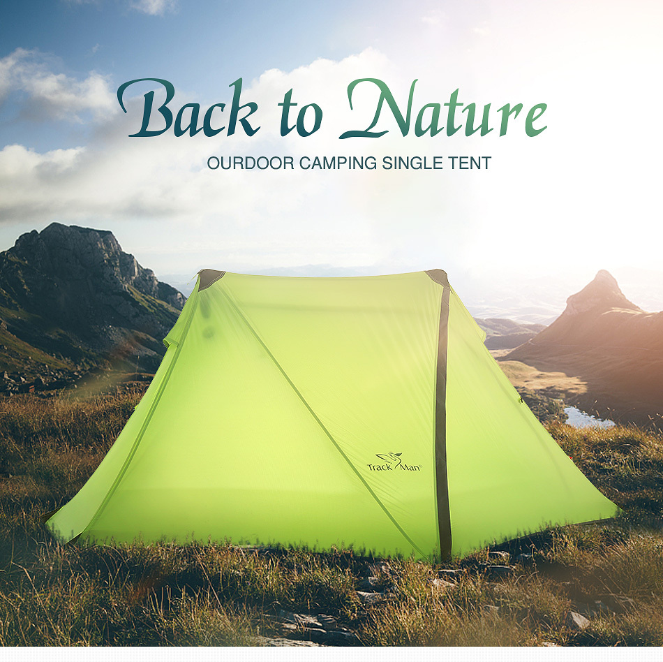 Trackman TM1305 1-2 Person Camping Tent Silicone Coating 3 Season Outdoor Hiking Travel Play Tents