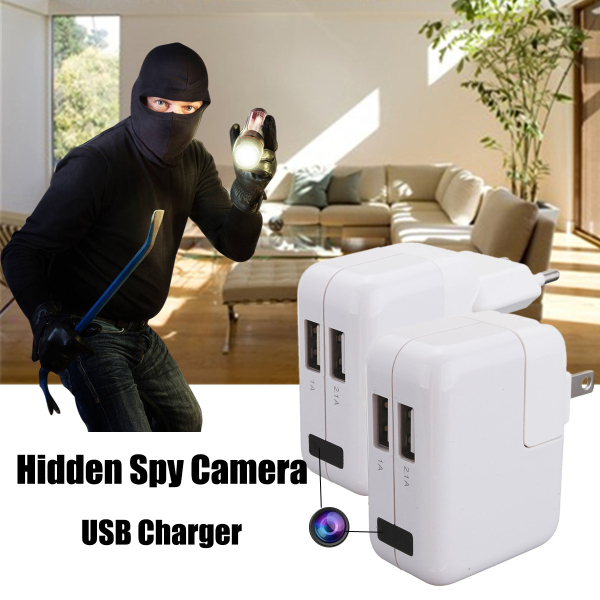 USB Wall Charger Full HD 1080P USB Hidden Camera Wall Charger Mini DVR Recorder Motion Detection