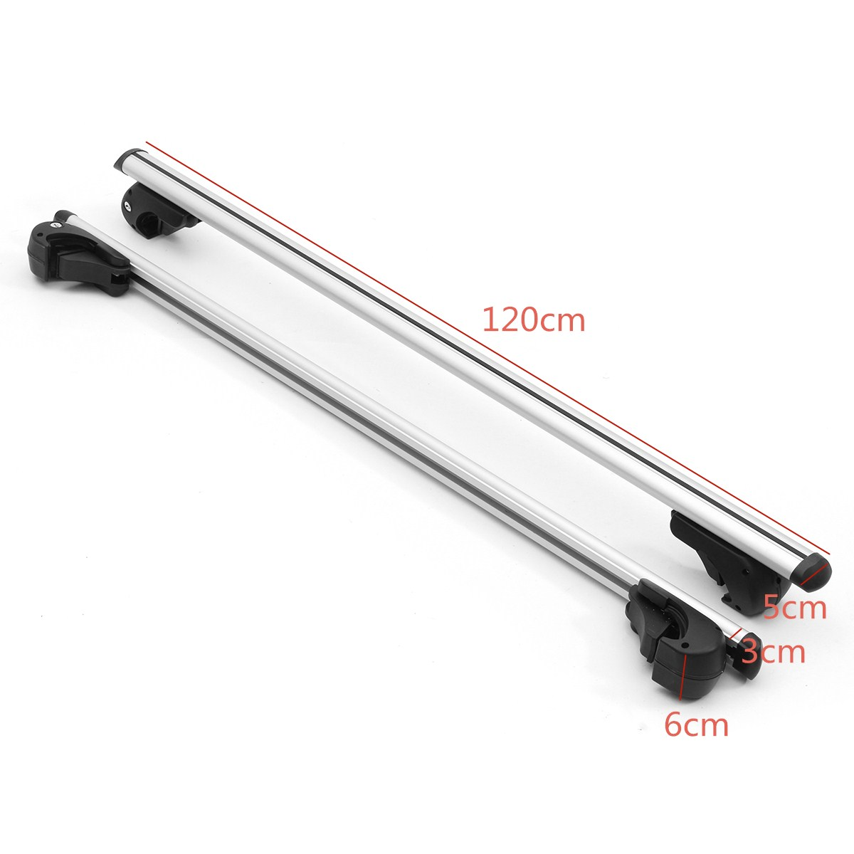 Pair Universal 48 Inch 120cm Aero Locking Car Top Cross Bar Roof Rack Cargo Luggage