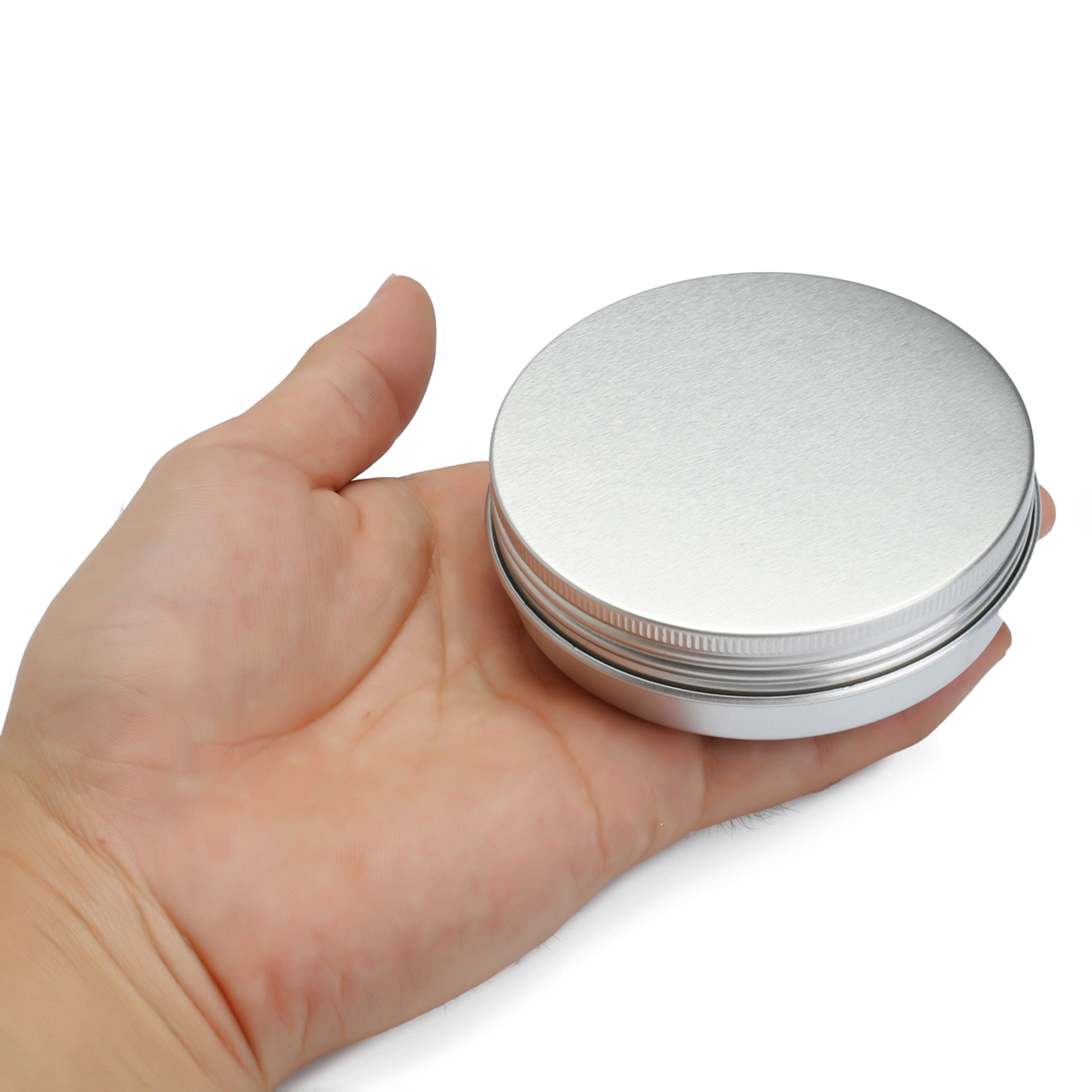 24Pcs 100G Aluminum Round Empty Jar Tin Screw Top Lid Cosmetic Sample Storage Container