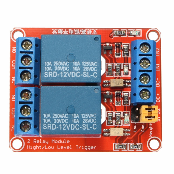 3Pcs 12V 2 Channel Relay Module With Optocoupler Support High Low Level Trigger For Arduino