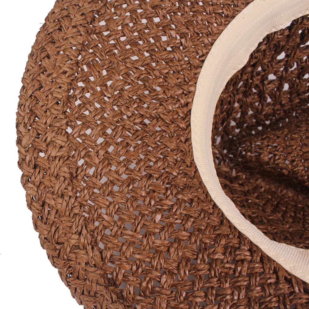 Men Outdoor Breathable Mesh Handmade Straw Hat
