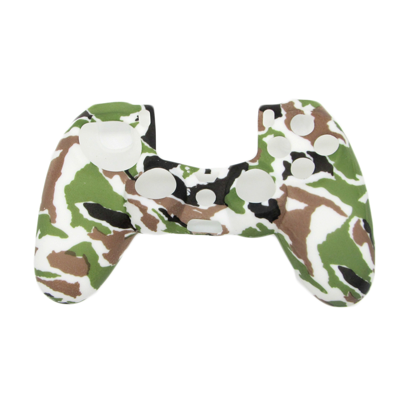 Camouflage Army Soft Silicone Gel Skin Protective Cover Case for PlayStation 4 PS4 Game Controller 45