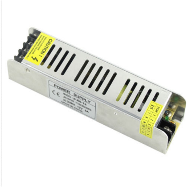 Mini 60W Switching Power Supply 85-265V to 12V 5A for LED Strip Light