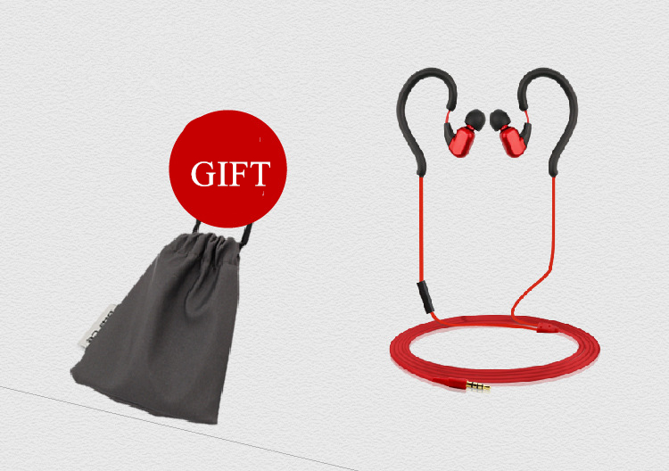 Dairle R159 3.5mm Stereo Ear Hook Running Sport Earphone With Mic For Android IOS Window Phone