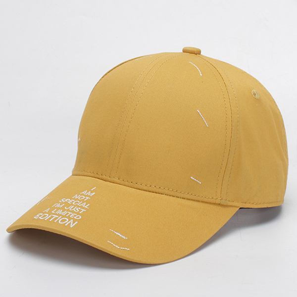 Cotton Letter Embroidery Sun Peaked Cap Baseball Caps
