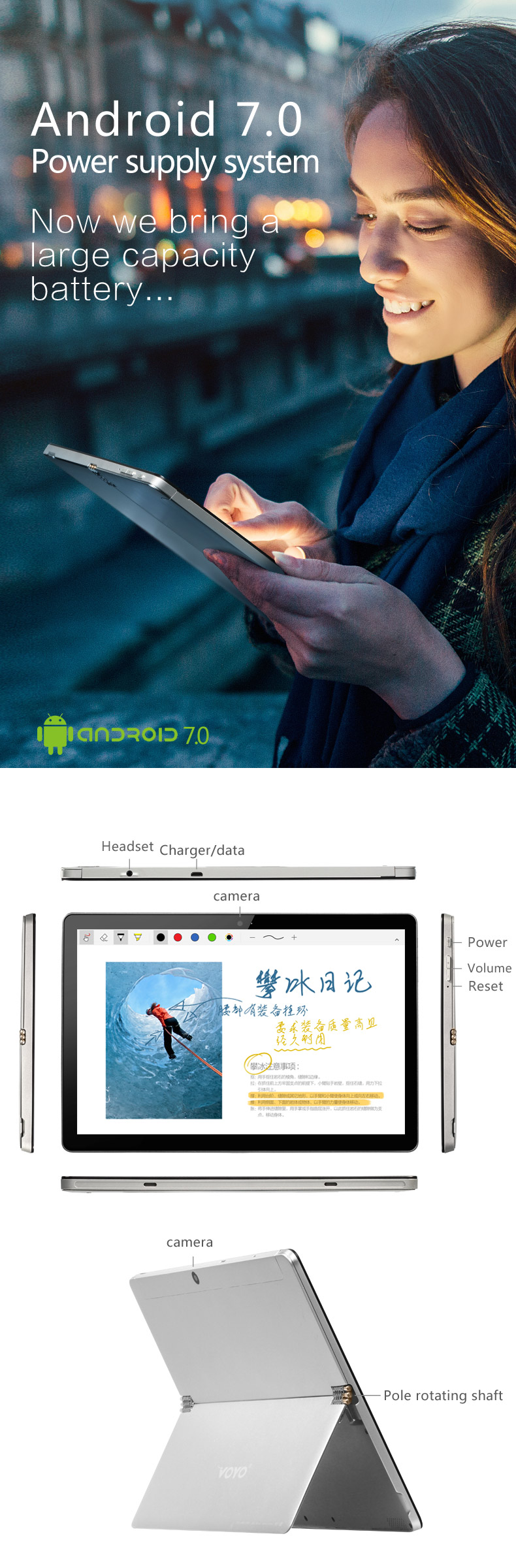 Original Box VOYO i8 Max MT6797 Deca Core 4G RAM 64 ROM 10.1 Inch Dual 4G Android 7.1 Tablet