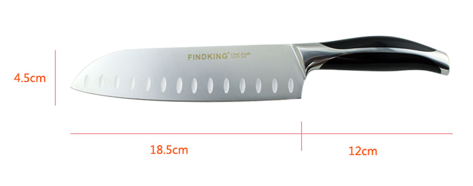 Findking New Top Grade 440c Quality 7.5'' Frozen Stainless Steel Meat Cutter Fillet Knifes Salmon Knife Japanese Knives Slicing Knife