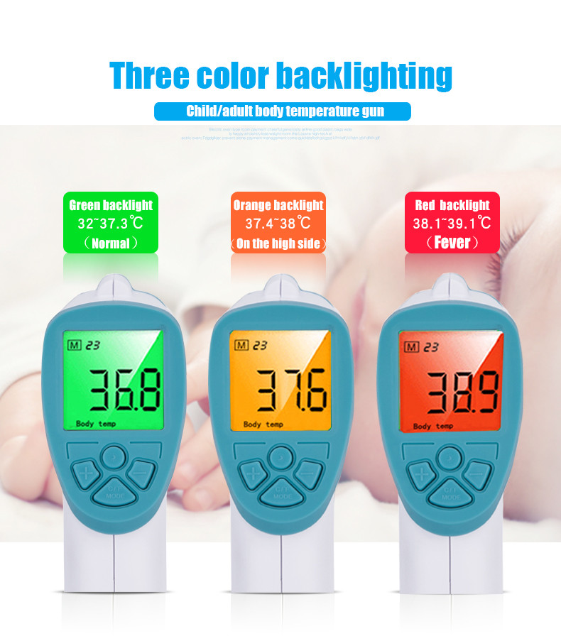 Digital Non Contact IR Infrared Kids Adult Thermometer Forehead Body Temperature