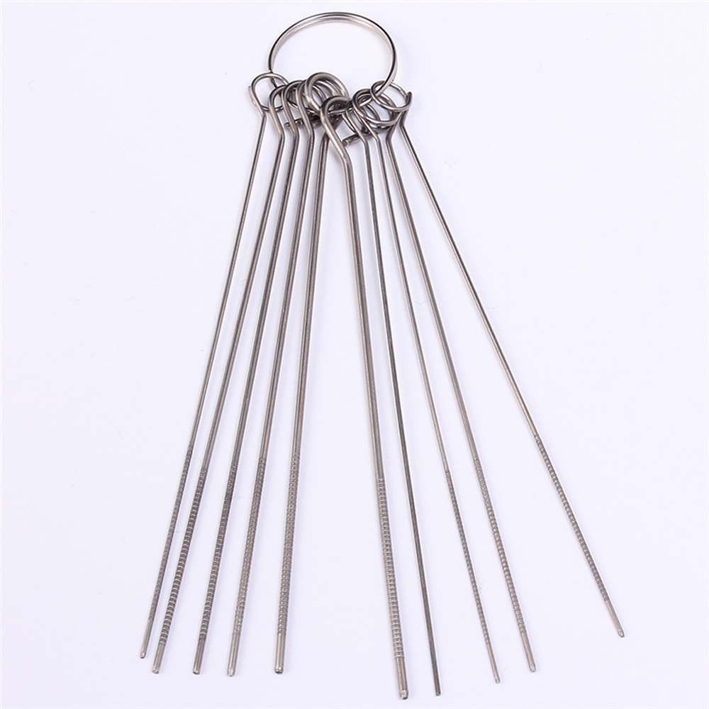 10 Kinds Stainless Steel Needle Set PCB Electronic Circuit Through Hole Needle Desoldering Welding Repair Tool 80mm 0.7-1.3mm