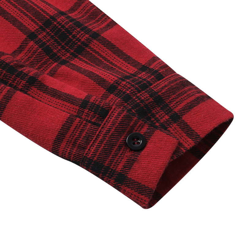 Plaid Drawstring Waist Shirt Dress