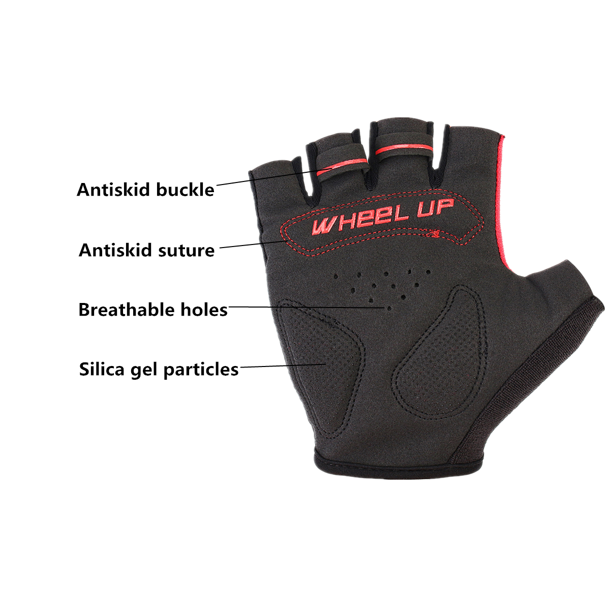 Universial Motorcycle Riding Half Fingers Fingerless Gloves Size XL
