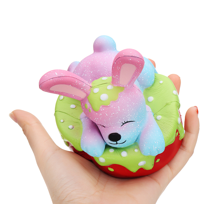 Oriker Squishy Rabbit Bunny Cake Cute Slow Rising Toy Soft Gift Collection With Box Packing
