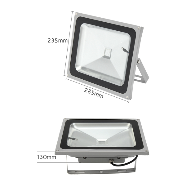 50W RGB LED Remote Flood Light Waterproof Outdoor Garden Driveway Security Lamp AC85-265V