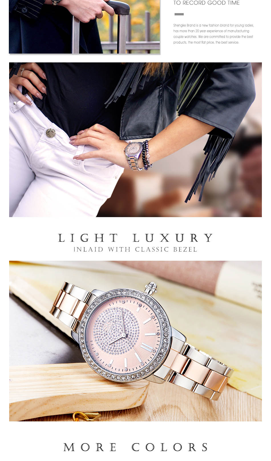 SK K0075 Rhinestone Ladies Wrist Watch Fashion Style Watches