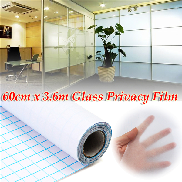 60cm 3.6M Frosted Window Tint Glass Privacy PVC Film For Home Office