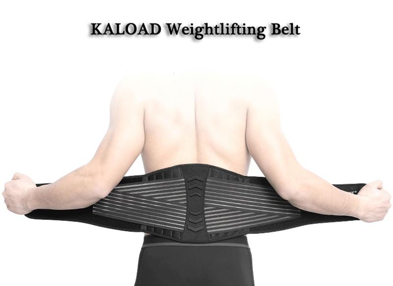 KALOAD Nylon Gym Fitness Adjustable Weightlifting Belt Waist Support Breathable Exercise Fitness Waist Brace