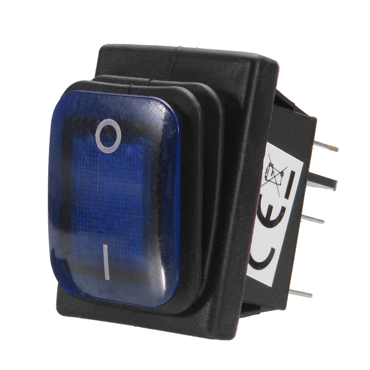 ON/OFF 12V 16A 6 Pin LED Single Rocker Toggle Switch Waterproof SPST For Car Boat