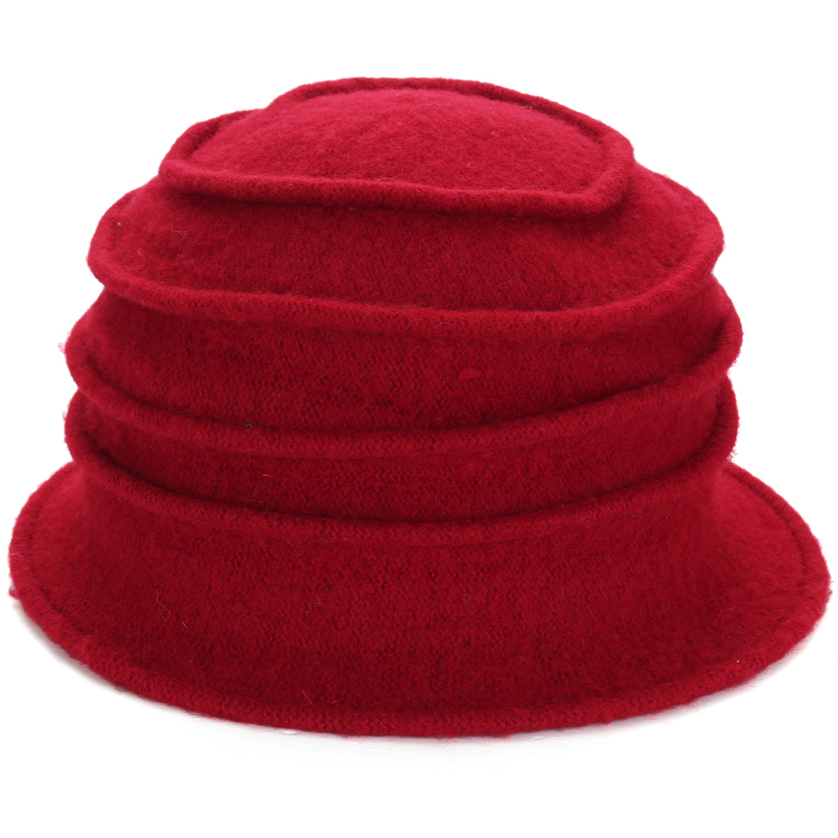 Women Ladies Flower Wool Felt Bucket Beanie Hat Cloche Cap