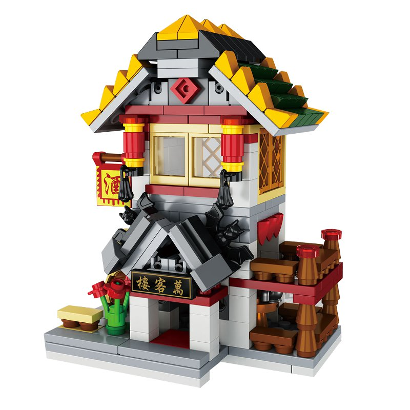 Chinese Style House Building Block Educational Gift Toys Random Delivery 300pcs+