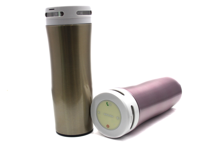 Smart bluetooth Bicycle Music Keep Cold Intelligent Water Bottle Alloy Cup Support Phone Call