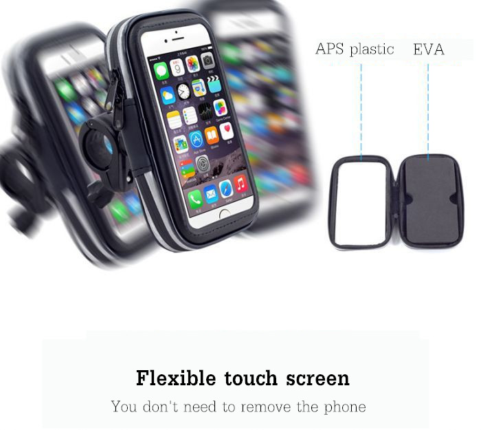 Universal Waterproof Screen Touch Bicycle Bike Handlebar Phone Holder Bag for Xiaomi Cell Phone under 5.5 Inch