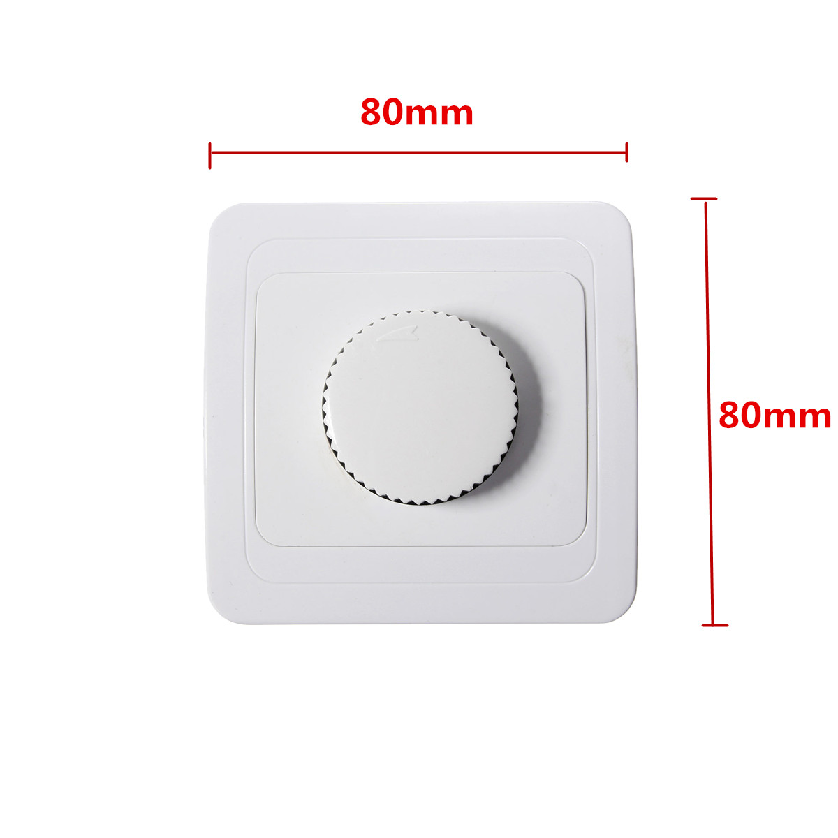 Rotary Dimmer Switch Light Intensity Brightness Control Socket Panel Plate