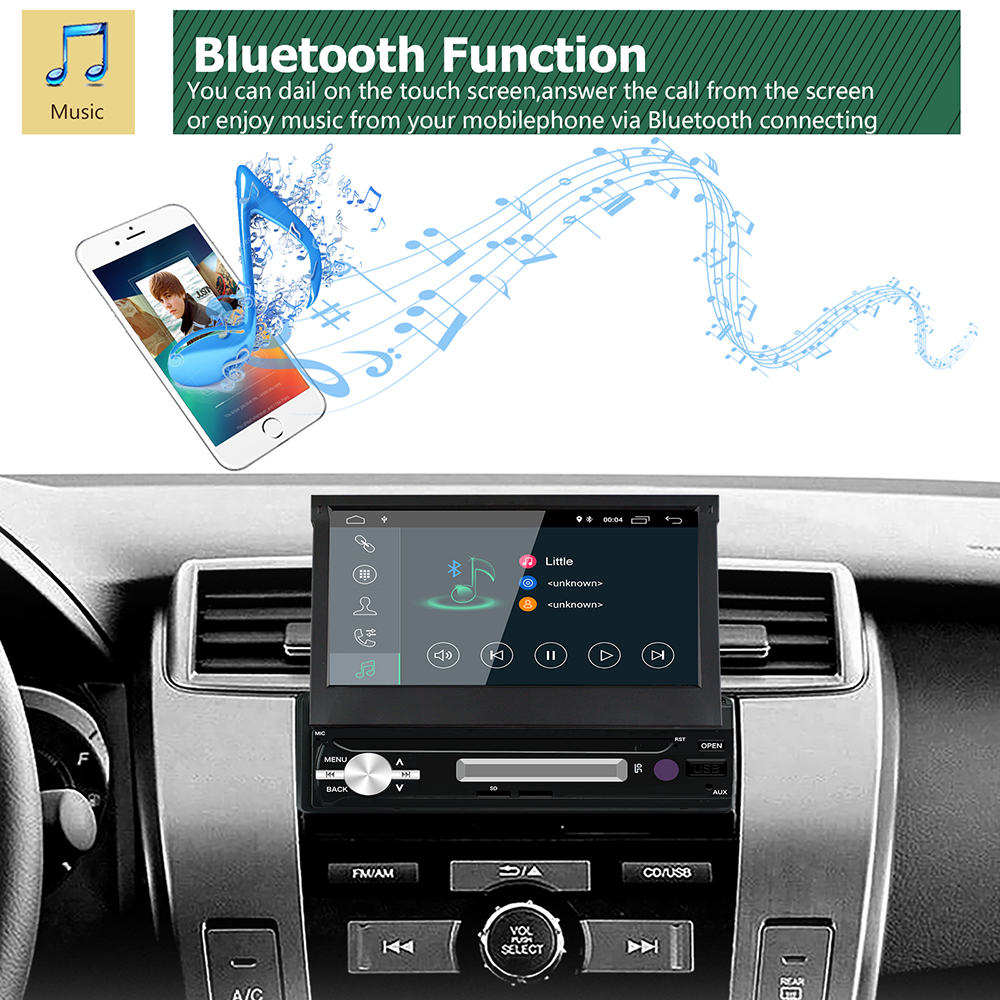 RM-CL7181 7 Inch 1Din for Android 8.1 Car MP5 Player 2+16G HD TFT Touch Screen Stereo Radio WIFI bluetooth GPS
