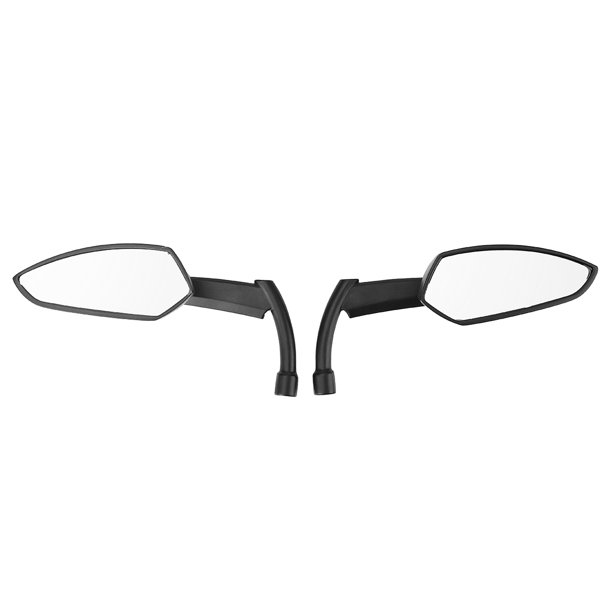 8MM 10MM Black CNC Blade Rear Review Mirrors For Harley Dyna Heritage Softail Sportster