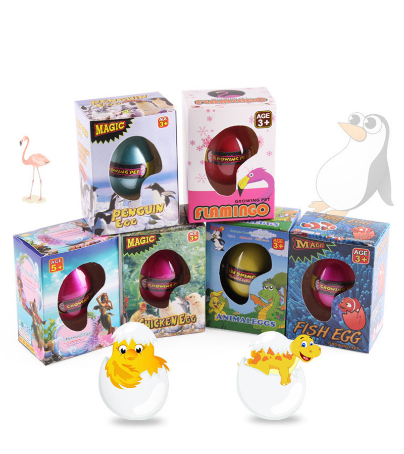 1pc Large Funny Magic Growing Hatching Animals Eggs For Kids Children Gift Toys Novelties Toys