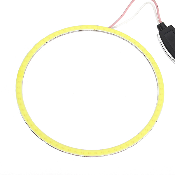 Circle Fog Lights DC 12V 24V 60-120mm COB Angel Eyes LED Light For Motorcycle Car