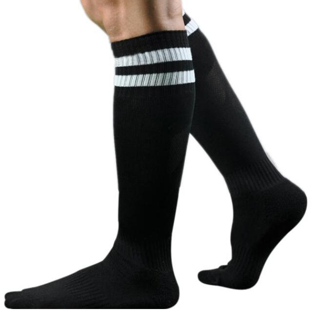 IPRee™ Adult Above Knee Football Socks Sweat Towel Socks Stripe Sport Knee High