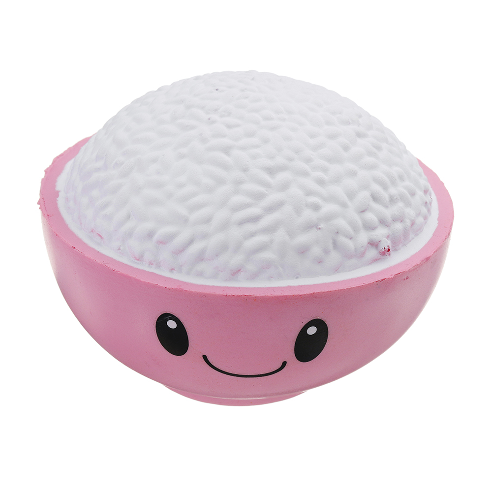 Expression Smile Rice Bowl Squishy 12*10CM Slow Rising With Packaging Collection Gift