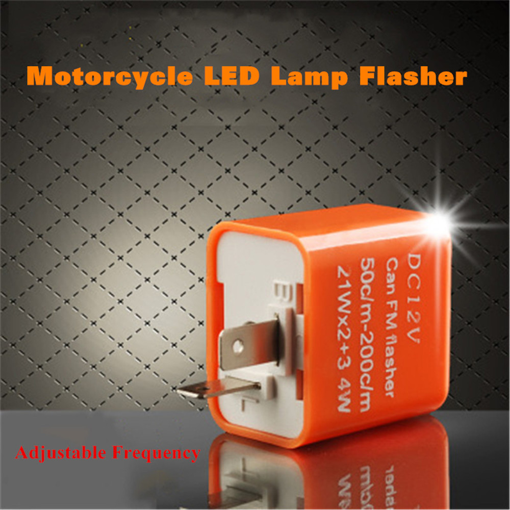 12V 2 Pin Motorcycle Motorbike Adjustable Frequency LED Flasher Relay Turn Signal Blinker Indicator