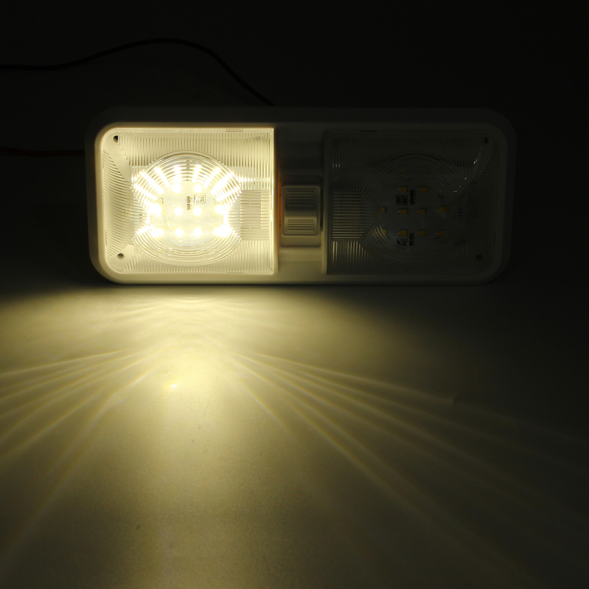 LED Interior Double Dome Ceiling Lights Lamp 6.5W 4500K White 12V for RV Boat Camper Trailer