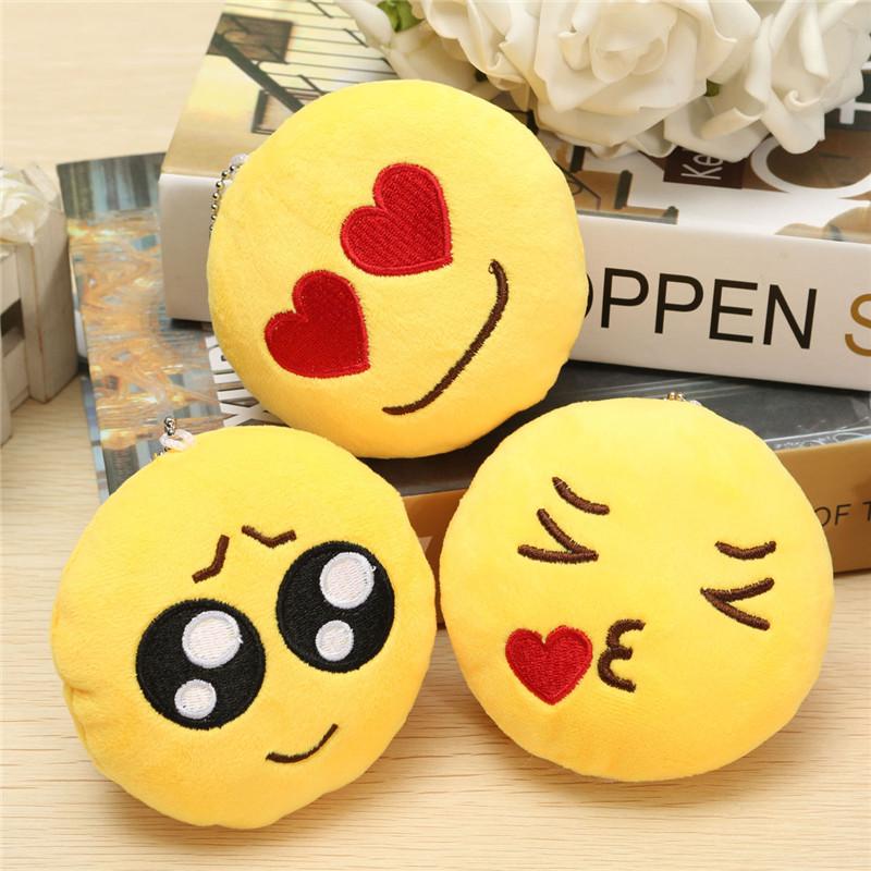 4inch 10cm Smiley Emoticon Round Emoji Ornament Stuffed Plush Soft Toy Pendant