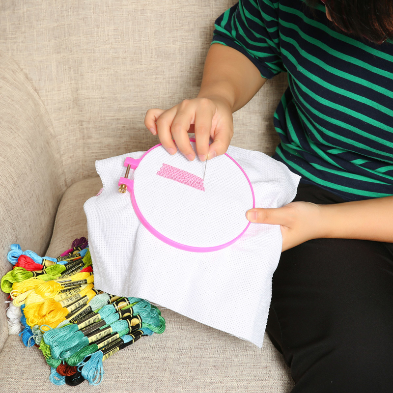 Cross Stitch Tool Embroidery Starter Kit with Embroidery Accessories