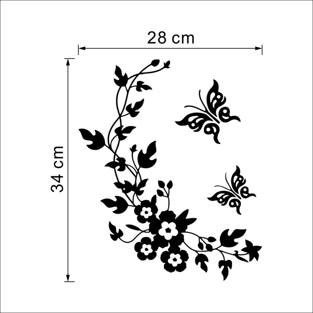 Funny Novelty Butterfly & Flower Toilet Seat/Sticker/Decal Fashion Wall Stikcer Bathroom Decorations