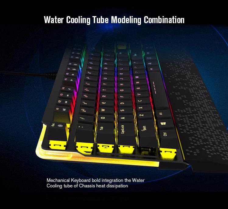 Dareu EK815 104 Keys RGB LED Backlit Brown Switch Mechanical Keyboard For Gamer Computer