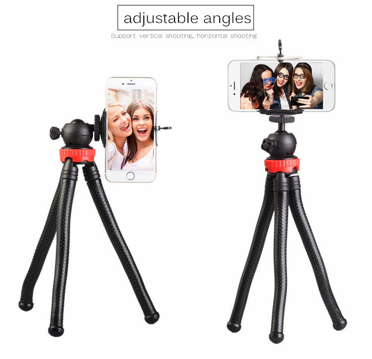 Bakeey Flexible Octopus Bracket Stand Video Mount Holder Travel Tripod for Cellphone GoPro Camera