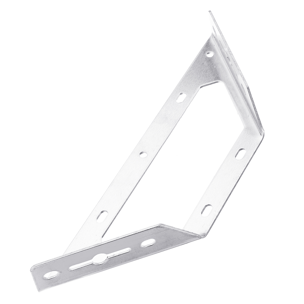 Stainless Steel Corner Braces Trapeziform Angle Brackets Joint Fasteners Shelf Support For Furniture